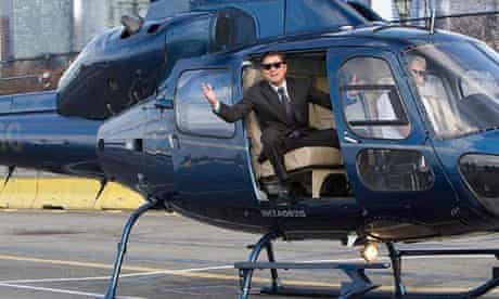 The Wolf of Wall Street - helicopter