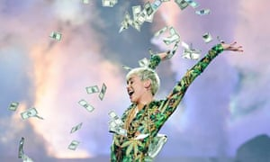 Miley Cyrus performs on her Bangerz tour.