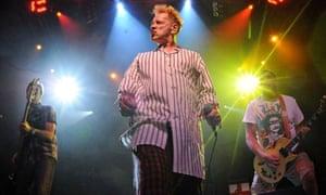 Glen Matlock, John Lydon and Steve Jones of the Sex Pistols onstage in Las Vegas in 2008.