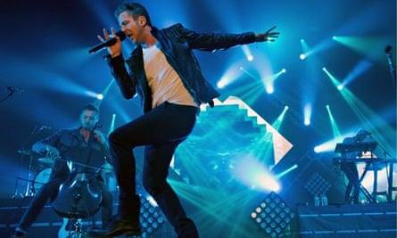 Ryan Tedder performs with OneRepublic in Munich.