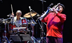 Loose methods and wide references … Jack DeJohnette and Joe Lovano of the Spring Quartet onstage at