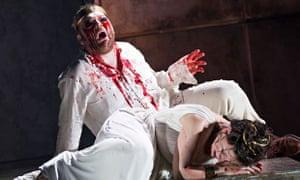 Roland Wood as Oedipus and Julia Sporsen as Antigone in Thebans