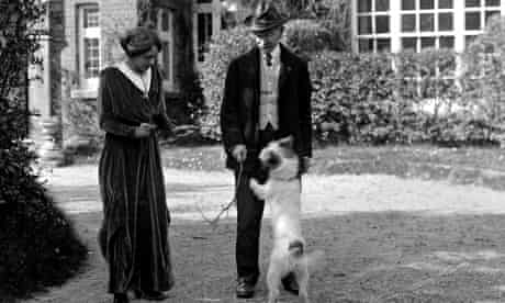The Hardys with their dog Wessex in 1914.