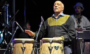 Mulatu Astatke on stage at the Big Chill festival, Hereforshire, in 2011.