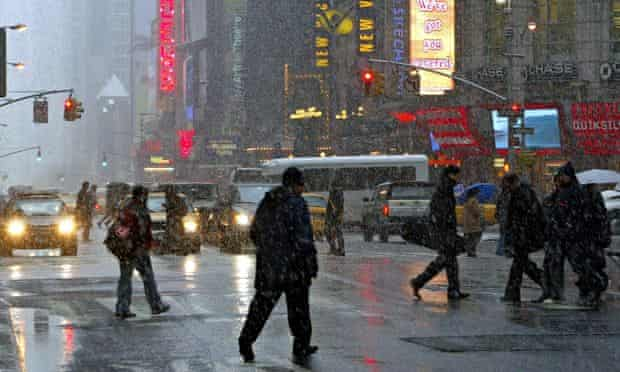 Stormy weather on 42nd Street