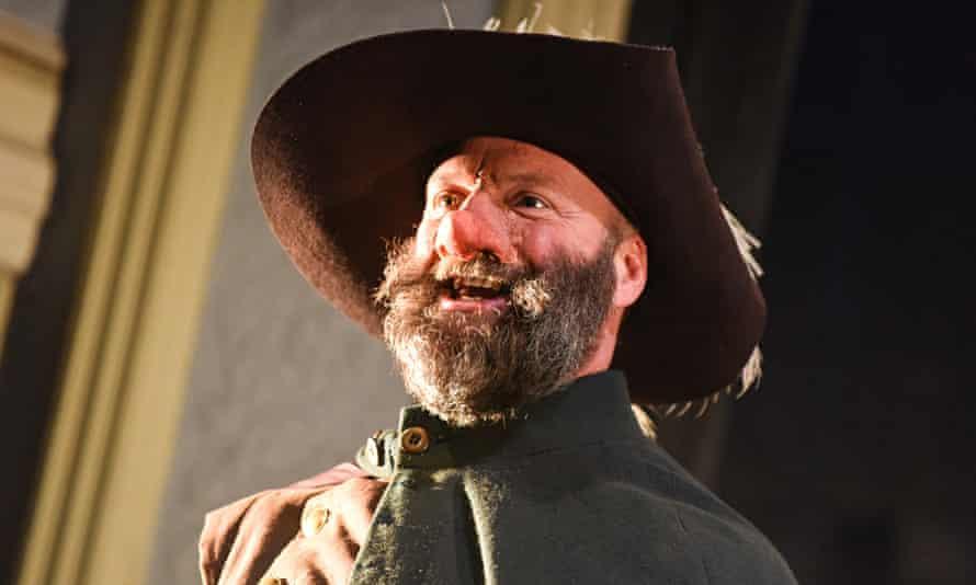 Heroic self-sacrifice … Nigel Barrett in Cyrano de Bergerac at the Royal and Derngate, Northampton.