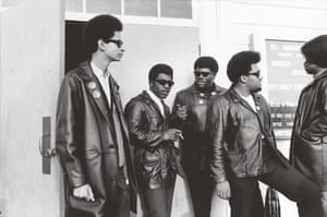 Howard Bingham photos: Black Panthers outside St Augustine's Episcopal Church in Oakland