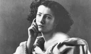 Waist-Up Portrait Of Sarah Bernhardt