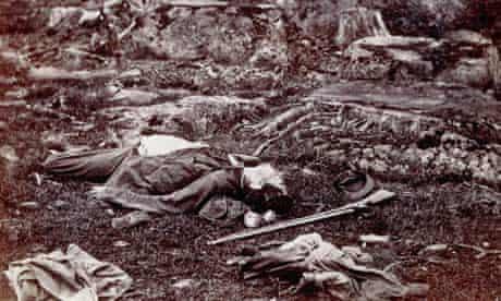 Dead Confederate soldier at Devil's Den