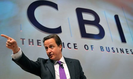 David Cameron addressing the CBI