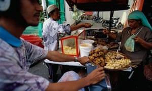 Market vendor in Kota Baharu, Malaysia
