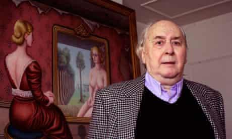 Author JG Ballard at home in Shepperton, London