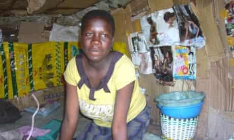 Homeless woman Kudzai Mupereki
