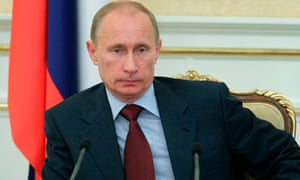 Russia's Prime Minister Vladimir Putin chairs a government meeting in Moscow