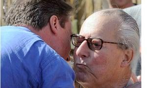David Cameron with his father, Ian.