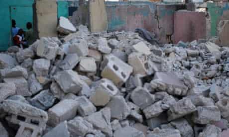 Haiti rubble