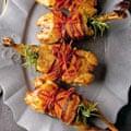 Italian Christmas Roast partridge, swiss chard, grapes and chestnuts.