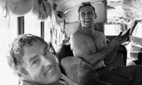 Psychologist Timothy Leary and Neal Cassady in Bus