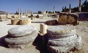 Ruins at Sebastya, Palestine