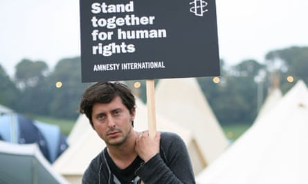 Amnesty supporter Carl Barat