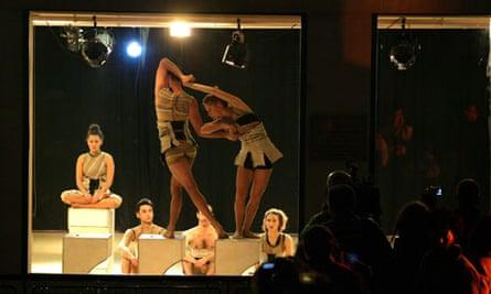 Dancers at the Kolben Dance Studio in Jerusalem