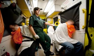 Paramedic Antonia Gissing in the booze bus.