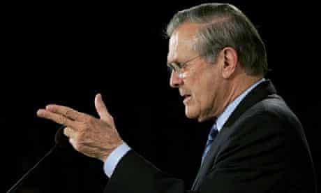 US Secretary of Defense Donald Rumsfeld