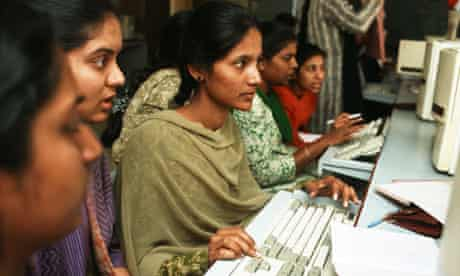 Female students in India