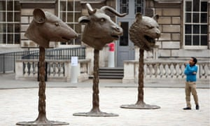 Circle of Animals/Zodiac Heads sculpture