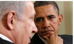 Obama listens to Netanyahu
