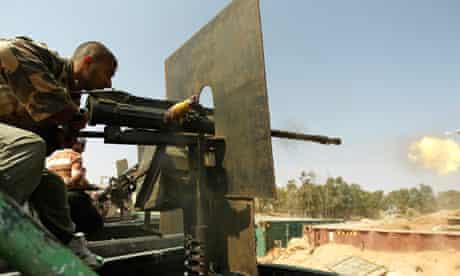 Rebel Lbyan fighter