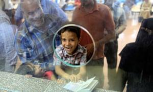 Boy at Rafah crossing