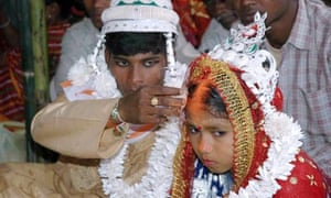 Indian groom and child bride