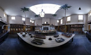 360 Panoramic of Brighton Pavilion Kitchen