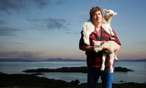 Sarah Boden lambing in the Hebrides