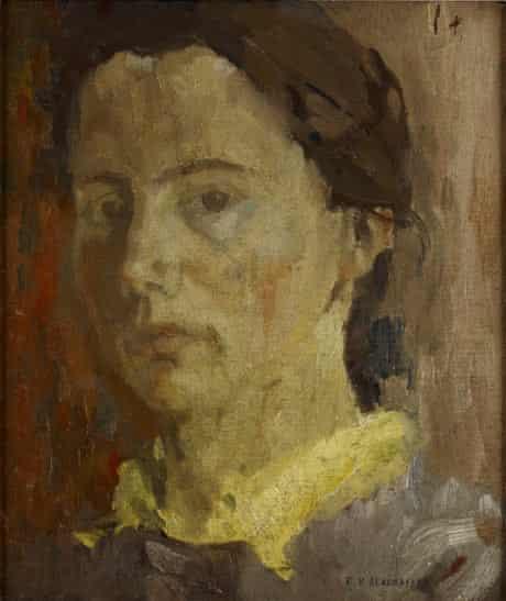 Elizabeth Blackadder, self portrait