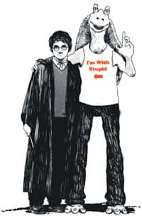 Harry Potter and Star Wars illustration