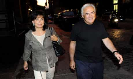 Dominique Strauss-Kahn and Anne Sinclair out and about, New York, America - 25 Aug 2011