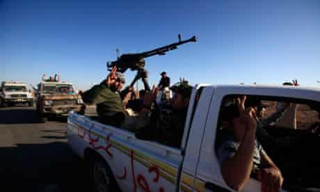 Libyan rebels head towards Bani Walid