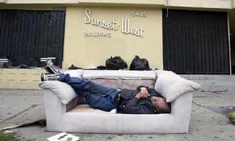 homeless on sunset