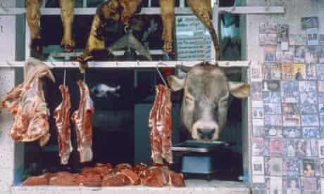 Butcher's shop in Tunisia