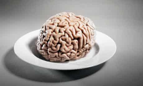Human Brain on Plate
