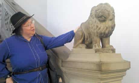 Jo Walton with lion