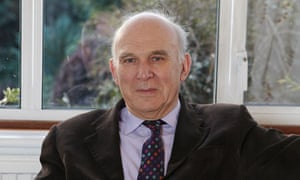 Vince Cable at his home in Twickenham