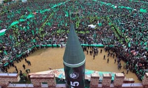 Supporters of Hamas gather in Gaza City