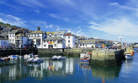 The picturesque harbour at Falmouth