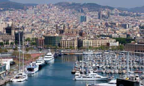 Barcelona, the Port Vell and the city