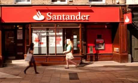 Santander Bank - Cambridge branch, Sidney Street Cambridge UK