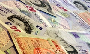 10 and twenty and fifty pound notes