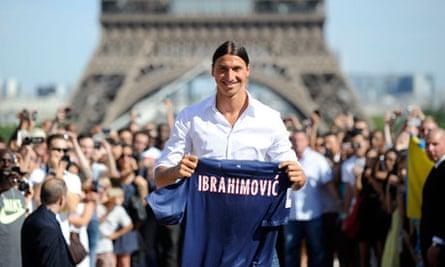 New PSG player Zlatan Ibrahimovic